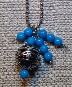 Ball+Chain+Necklace+with+Silver+Bobble+and+by+TarasExpressions,+$22.00