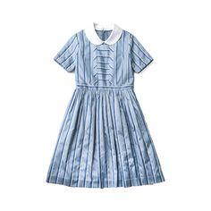 レジメンタルストライプのパブリックスクールワンピース ❤ liked on Polyvore featuring op and dresses