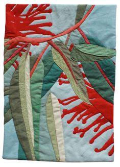 Fabric Art, Fabric Crafts, Textile Design, Textile Art, Flower Quilts, Textiles, Landscape Quilts, Sewing Appliques, Small Quilts