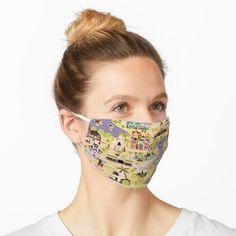 """A walk in the Park"" Mask by Disney1955Fan   Redbubble Yellow Crocs, Eye Pattern, Pattern Design, Surface Pattern, Quilt Pattern, Christen, Fashion Face Mask, Jane Austen, Mask Design"