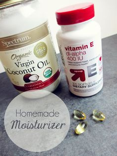 Homemade face moisturizer with coconut oil and vitamin E