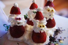 Aprende a preparar fresas de Navidad - Papá Noel con esta rica y fácil receta.  Si quieres hacer algo diferente para Navidad esta receta es para ti. Sorprende a los...