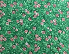 Fabric with Pine Cones  Deck the Halls by OmasFabricAndGifts