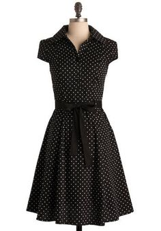 black polka dot summer dress