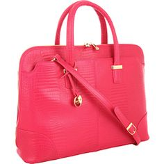 If your style at work needs a fun POP, try out a bright briefcase like this Knomo Berkeley bag.