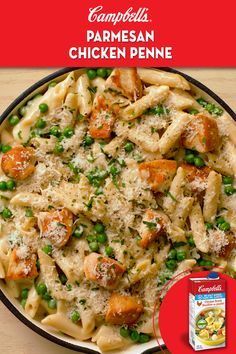 No need to boil or drain the pasta in this dish. Just stir the uncooked pasta right into your saucy chicken mixture and simmer away. The pasta is extra delicious from absorbing all of the fabulous flavours. Chicken Penne Recipes, Pasta Recipes, Casserole Recipes, Cooking Recipes, Healthy Recipes, Cooking Time, Oven Cooking, Vegetarian Cooking, Cooking Utensils