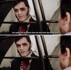 """You expect me to believe that the Dark One has found love?"" - Mr. Hyde and Snow #OnceUponATime"