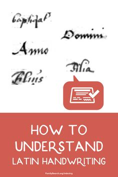 Latin handwriting found on old documents can be really interesting but also tricky to understand. Using these tips and tricks and you'll be a pro in no time. Free Family Tree, Your Family, Ghost Of You, Handwritting, Family Search, Family Genealogy, Cursive, Things To Know, Family History