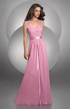 Bari Jay Sleeveless Chiffon Bridesmaid Dress 429 at frenchnovelty.com