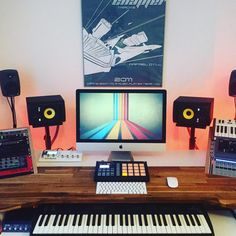 #studio #homestudio #producer #composer #desktop #workplace #mac #imac #apple #cubase #korg…