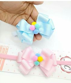 New hair accessories diy ribbon ideas Moños para el cabello Making Hair Bows, Diy Hair Bows, Bow Hair Clips, Diy Ribbon, Ribbon Crafts, Ribbon Bows, Hair Bow Tutorial, Hair Ribbons, Boutique Hair Bows
