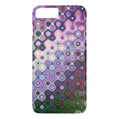 Colourful Rounded Stripes pattern iPhone 8 Plus/7 Plus Case - girly gift gifts ideas cyo diy special unique