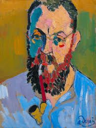 Fauvism is colorful style of painting developed by Henri Matisse and Andre Derain who used vibrant colors, simplified drawing and expressive brushwork. Andre Derain, Henri Matisse, Art And Illustration, Matisse Pinturas, Fauvism Art, L'art Du Portrait, Portraits, Matisse Paintings, Figurative Kunst
