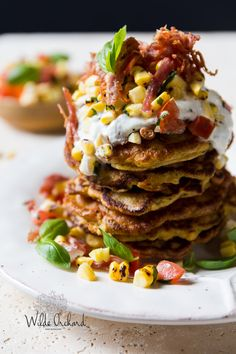 Sweet Potato Corn Fritters.| A bright and fresh 30 minute meal that's effortless and delicious. | www.wildeorchard.co.uk