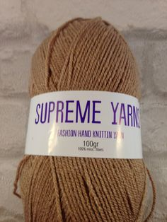 Supreme Yarns Café au Lait /coffee colour 100 by Bitsandbobstopia Cheap Yarn, Coffee Colour, Yarns, Supreme, Knitted Hats, Knitting, Trending Outfits, Unique Jewelry, Handmade Gifts
