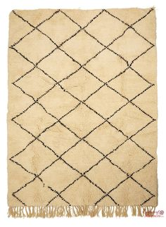 Beni Ourain Rug Vintage. Moroccan Pure Wool . Hand-knotted Handmade in Morocco Genuine and Authentic. 256 cm x 191 cm (BOJ3)