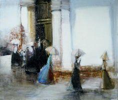 Snowfall - 120 x 140 sm, oil, canvas, 2003
