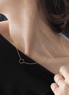 Simple things like our Circle Necklace and Skinny Stacking Rings are perfect to get us through the day.
