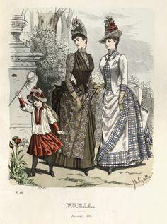 Freja - Illustrerad Skandinavisk Modetidning (Swedish) 1886