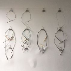 Bristol Ivy's circular knitting needle storage / organization, wall-mounted bull clips