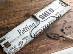 Take your DIY signs to the next level by making them out of more than one board! By Funky Junk Interiors for eBay.