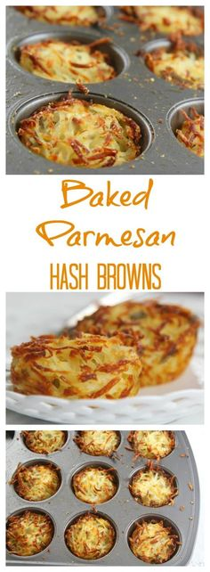 Easy parmesan hash browns baked in muffin cups for crispy edges and soft centers. Easy parmesan hash browns baked in muffin cups for crispy edges and soft centers. Prep the night before and bake in the morning for breakfast or brunch. Weight Watcher Desserts, Breakfast Dishes, Breakfast Casserole, Breakfast Potatoes, Breakfast Potato Recipes, Baked Hashbrown Recipes, Breakfast Hash Browns, Shredded Hashbrown Recipes, Free Breakfast