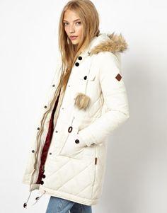 fbb03ecb3e97 Bellfield Longline Padded Coat With Pom Poms Doudoune Longue, Longues,  Vestes D hiver