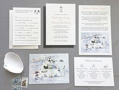 Lighthouse Wedding Invitation by Hobart and Haven  www.hobartandhaven.com