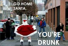 Bad Santa Humor: Santa shows his ornaments!