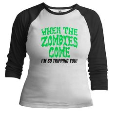 When The Zombies Come Baseball Jersey #funny #tshirts