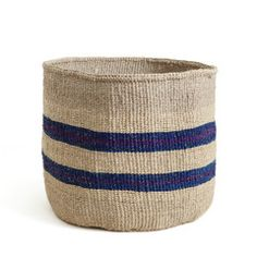 Artisan: Women of Ngambenyi and Bungule This hand-woven basket is crafted from natural sisal fibres in a range of vibrant colours found in the national dress of