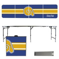 Albany State Golden Rams 8 Foot Portable Tailgate and Pong Table – backyardtailgator.com