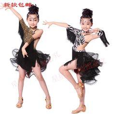 8692d39a6 2016 new style girls latin dance costumes senior spandex vs tassel latn  dance dress for girls latin dance dresses S-3XL