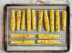 Tender and golden from broiled Parmesan cheese! Baked Zuchinni Recipes, Oven Roasted Zucchini, Roast Zucchini, Recipe Zucchini, Veggie Side Dishes, Vegetable Dishes, Side Dish Recipes, Main Dishes, Grilled Shrimp Seasoning