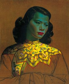 Chinese Girl (The Green Lady), 1952, by Vladimir Tretchikoff (1913-2006)
