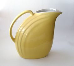 Hall Nora Pitcher in Yellow 1950s Streamline by PBandW on Etsy, $24.00