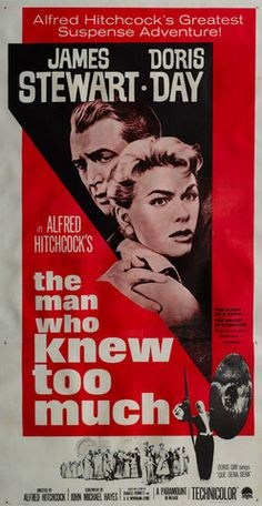 Original 1956 The Man Who Knew Too Much US 3 Sheet film movie poster - Orson & Welles