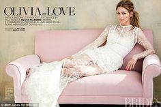 Fashion-forward: Inside the magazine, she models several more bridal looks; one image sees...