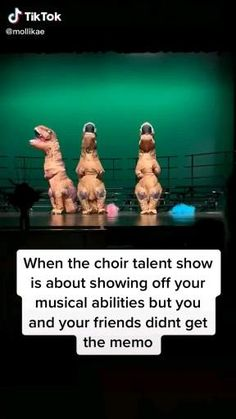 Memes Discover Best act Dinosaur choir talent show Crazy Funny Memes, Funny Video Memes, Really Funny Memes, Stupid Memes, Funny Relatable Memes, Haha Funny, Funny Disney Jokes, Funny Stuff, Hilarious