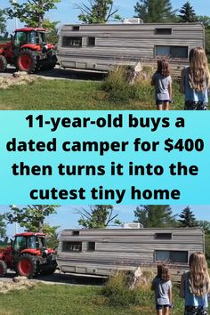11-year-old buys a dated #camper for $400 then turns it into the #cutest tiny #home