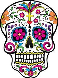 day of the dead skull clipart clip art sugar skulls clipart clip rh pinterest com day of the dead clip art to color day of the dead clip art borders