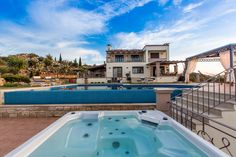 Golden Hill Villa in Malaxa Village, Chania, Crete #villa #chania #crete #greece #vacation_rental #holidays #luxurious_accommodation #privacy #visit_crete #unforgettable_holidays #live_your_myth_in_Greece #outdoors #love_the_view #swimming_pool #hot_tube