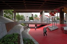 """""""Garscube Landscape Link"""" by RankinFraser Landscape Architecture and 7N Architects, Garscube Road, Glasgow, Scotland"""