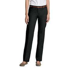 Eddie Bauer Womens StayShape Straight Twill Pants  Slightly Curvy Black 6 Sh * More info could be found at the image url.(This is an Amazon affiliate link and I receive a commission for the sales) #LadiesSuitingandBlazers