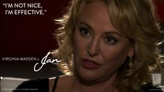 "Virginia Madsen in ""Jan.""    #virginiamadsen #watchwigs www.youtube.com/wigs"