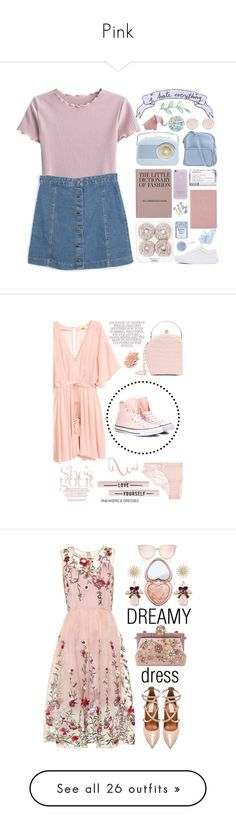 """Pink"" by dawaited ❤ liked on Polyvore featuring Royce Leather, Korres, Vans, Accessorize, Prada, Miss Selfridge, Jil Sander Navy, pastel, Converse and La Perla"