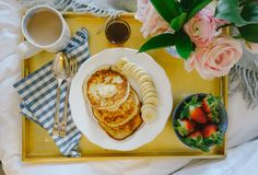 Ricotta Pancakes with Honeycomb butter- The Londoner