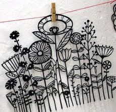 The Latest Trend in Embroidery – Embroidery on Paper - Embroidery Patterns Paper Embroidery, Embroidery Applique, Cross Stitch Embroidery, Embroidery Patterns, Machine Embroidery, Modern Embroidery, Doily Patterns, Dress Patterns, Cut Paper Illustration