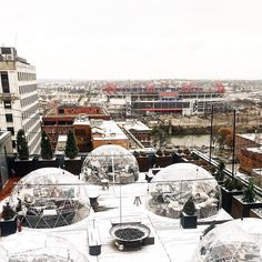 Nashville Rooftop Bar Lets You Get Drunk Inside Igloos All Winter Long | Whiskey Riff