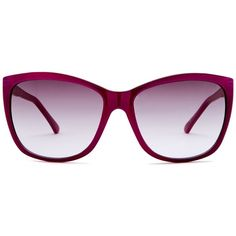 GUESS Women's Acetate Sunglasses ($30) ❤ liked on Polyvore featuring accessories, eyewear, sunglasses, gradient sunglasses, purple glasses, guess glasses, purple lens glasses and purple sunglasses